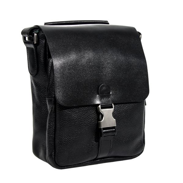 Мужская кожаная сумка Vesson 4632 черная