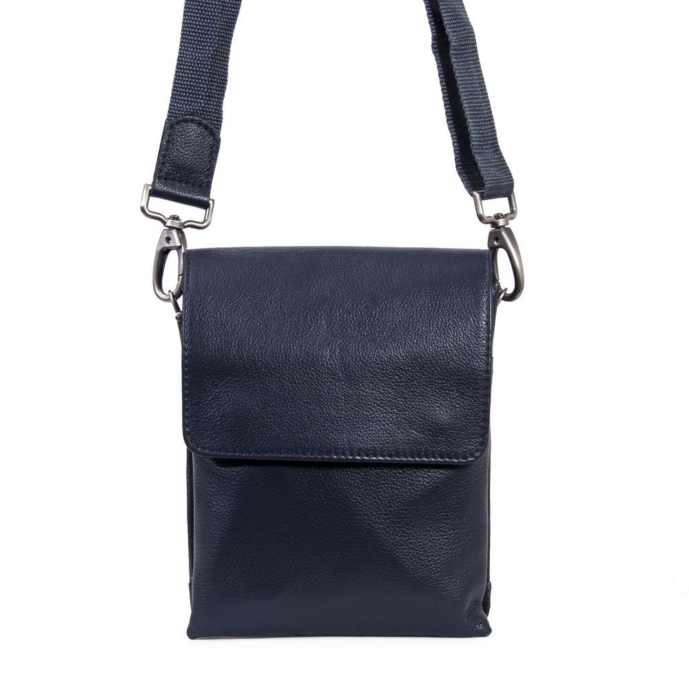 Мужская кожаная сумка 4260 синяя