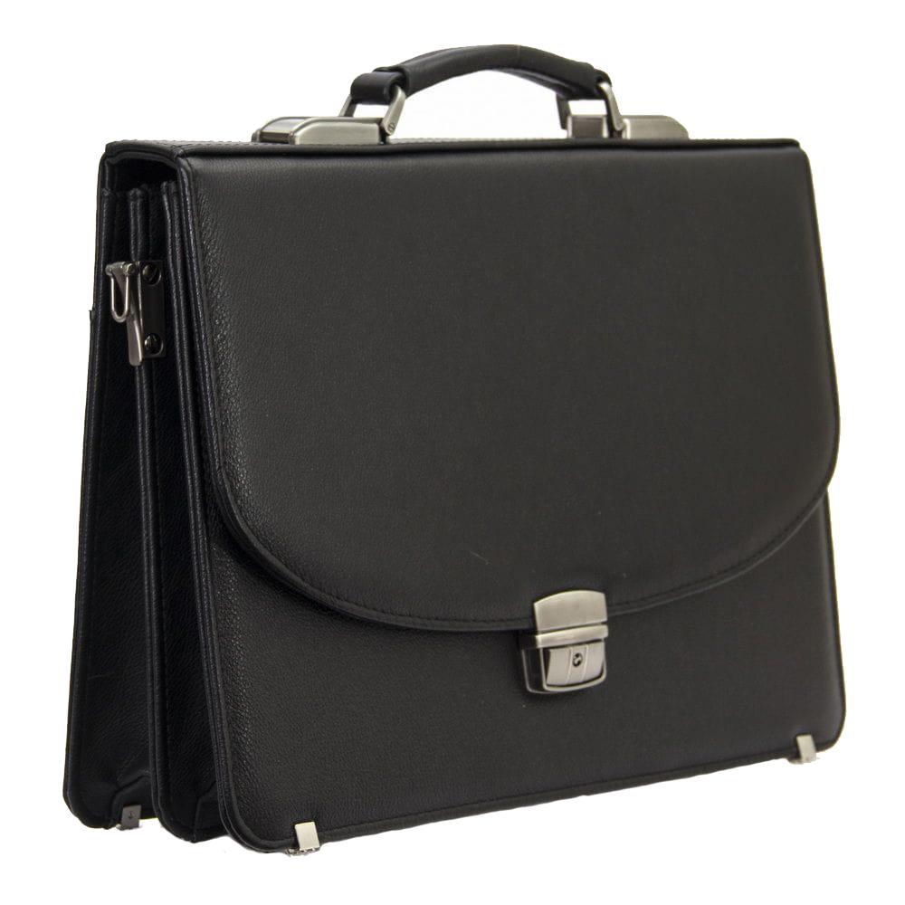 Мужской кожаный портфель 471 черный